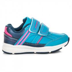 Dievčenské modré športové tenisky na suchý zips