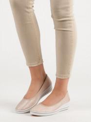 Dizajnové dámske hnedé  tenisky na kline