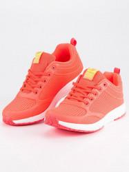 Dizajnové dámske tenisky oranžové bez podpätku 2daa7dfbc70