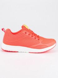 Dizajnové dámske  tenisky oranžové bez podpätku #2