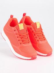 Dizajnové dámske  tenisky oranžové bez podpätku #3