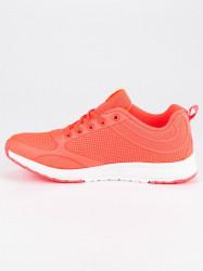 Dizajnové dámske  tenisky oranžové bez podpätku #5