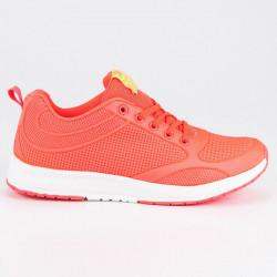 Dizajnové dámske  tenisky oranžové bez podpätku #6