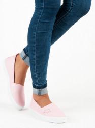 Dizajnové ružové   dámske bez podpätku