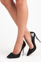 Elegantné čierne lodičky na ihlovom podpätku