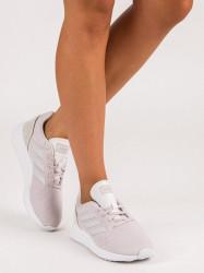 Exkluzívne fialové dámske  tenisky bez podpätku