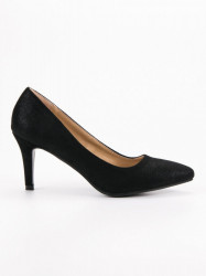 Exkluzívne  lodičky čierne dámske na ihlovom podpätku #1
