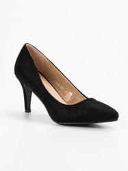 Exkluzívne  lodičky čierne dámske na ihlovom podpätku #2