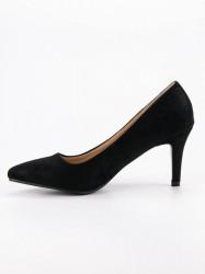 Exkluzívne  lodičky čierne dámske na ihlovom podpätku #3