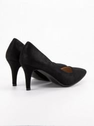 Exkluzívne  lodičky čierne dámske na ihlovom podpätku #4