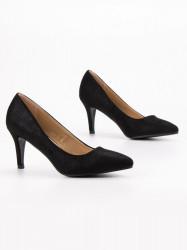 Exkluzívne  lodičky čierne dámske na ihlovom podpätku #5