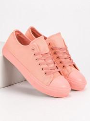 Exkluzívne ružové  tenisky dámske bez podpätku #2