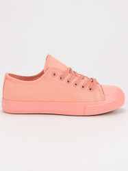 Exkluzívne ružové  tenisky dámske bez podpätku #4