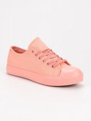 Exkluzívne ružové  tenisky dámske bez podpätku #5