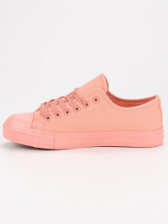 Exkluzívne ružové  tenisky dámske bez podpätku #6
