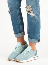 Exkluzívne zelené dámske  tenisky bez podpätku