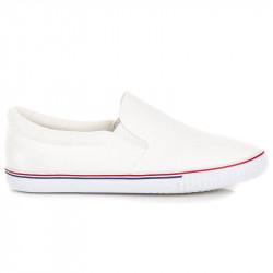 Jedinečné   dámske biele bez podpätku #3