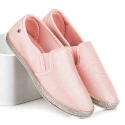 Jedinečné ružové  tenisky dámske bez podpätku