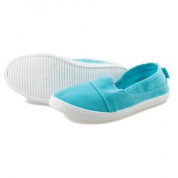 Jednoduché modré dámske slip on tenisky #2