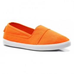 Jednoduché oranžové dámske slip on tenisky