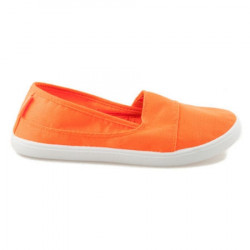 Jednoduché oranžové dámske slip on tenisky #1