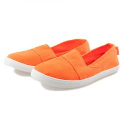 Jednoduché oranžové dámske slip on tenisky #2