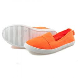 Jednoduché oranžové dámske slip on tenisky #3