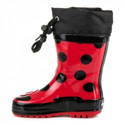 Komfortné červené detské  gumáky bez podpätku #2