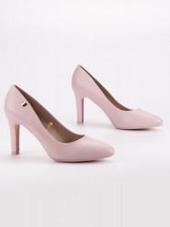 Komfortné  lodičky dámske ružové na ihlovom podpätku #1