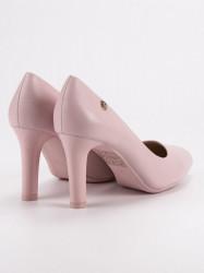 Komfortné  lodičky dámske ružové na ihlovom podpätku #2