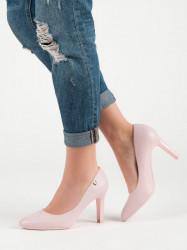 Komfortné  lodičky dámske ružové na ihlovom podpätku #3