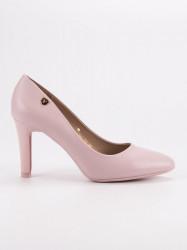 Komfortné  lodičky dámske ružové na ihlovom podpätku #4