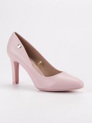 Komfortné  lodičky dámske ružové na ihlovom podpätku #5