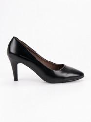 Krásne dámske čierne  lodičky na ihlovom podpätku #1
