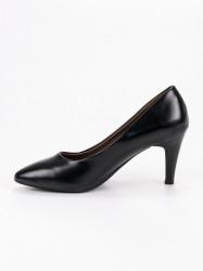 Krásne dámske čierne  lodičky na ihlovom podpätku #3