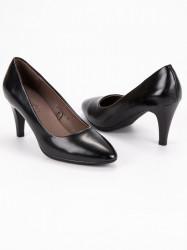 Krásne dámske čierne  lodičky na ihlovom podpätku #6