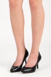 Luxusné dámske čierne   na ihlovom podpätku