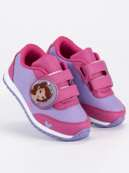 Luxusné fialové  tenisky a športové topánky detské bez podpätku