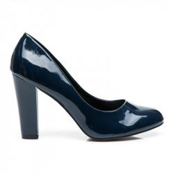 Luxusné  lodičky modré dámske na širokom podpätku