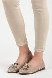 Luxusné  poltopánky dámske hnedé bez podpätku