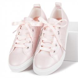 Luxusné ružové tenisky viazané stužkou
