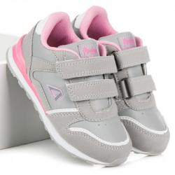 Moderné detské strieborné  tenisky a športové topánky bez podpätku