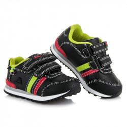 Módne čierne detské športové botasky