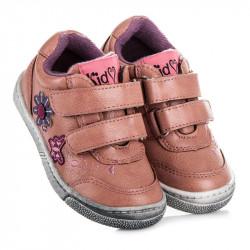 Módne ružové dievčenské tenisky na suchý zips