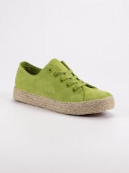 Módne zelené  tenisky dámske bez podpätku #2