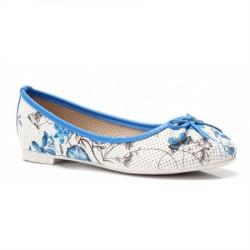 Modré balerínky s kvetmi #1