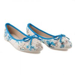Modré balerínky s kvetmi #2