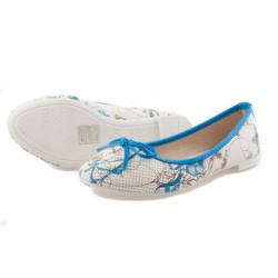 Modré balerínky s kvetmi #3