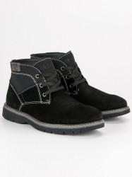 Pánske šedo-čierne šnurovacie topánky