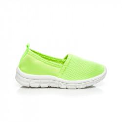 Parádne detské zelené tenisky pohodlné
